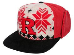 Rutgers Scarlet Knights Top of the World NCAA Ugly Sweater Strapback Cap Hats - Puff embroidery - college sports