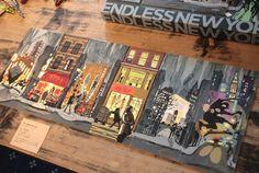 ニューヨーク好きにはたまらない!ニューヨークの街の一部が描かれた細長いカード。この約18cm x 約8cmのカードを横に並べると...