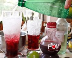 Cool & Refreshing Non-Alcohol Drinks (POM juice, Perrier, etc. Fancy Drinks, Cocktail Drinks, Cold Drinks, Refreshing Drinks, Summer Drinks, Pom Juice, Pomegranate Cocktails, Pomegranate Juice, Vodka