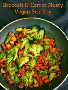 Broccoli & Carrot Nutty #Vegan #StirFry