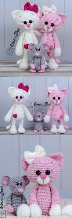Cat Amigurumi Pattern Easy Video Tutorial ~ these are simply adorable - I want one!