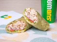Subway recently rolled out its Signature Wraps Collection, featuring savory wraps in three different flavors: spinach, habanero, and tomato basil, but are they better for you than the bread? We break down the wraps' nutrition. Healthy Wraps, Healthy Foods To Eat, Healthy Smoothies, Healthy Snacks, Healthy Eating, Healthy Recipe Videos, Super Healthy Recipes, Easy Healthy Dinners, Crockpot