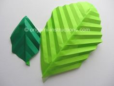 Easy Origami Leaf from www.origami-instructions.com