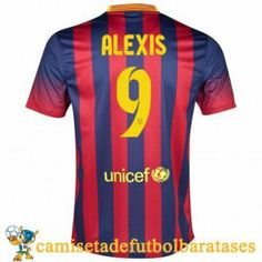 Camisetas Barcelona Alexis futbol casa 2013-2014