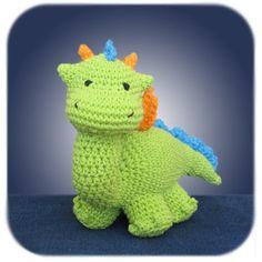 Dragon plush scarf with dragon scales crochet pattern