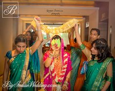 Here is a list of moments that we feel should not be missing from any Indian bride's wedding album. Yes, here are 10 shots that every Indian bride must have in her wedding album. So, keep this in mind before you set to pose for the camera. Marathi Wedding, Wedding Bride, Wedding Album, Wedding Photos, Wedding Checklist Detailed, Mehndi Night, Bengali Bride, Wedding Rituals, Big Fat Indian Wedding