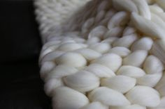 Chunky Knit Blanket Throw Blanket Sofa Throw Extrem by Merrisson