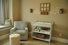 Gray + beige nursery