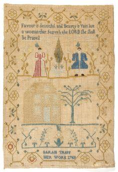 1769 Philadelphia Museum of Art - Collections Object : Sampler