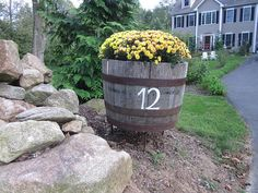 Planter with your house number to set out by the road...