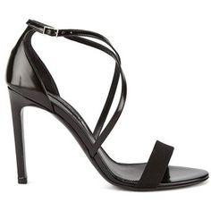 BOSS Hugo Boss Women's Tahara-A Grosgrain Barely There Heeled Sandals