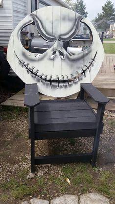Jack Skellington Wood Chair