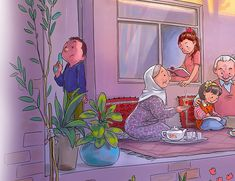 Childhood Memories Quotes, Iran Pictures, Sarra Art, Meaningful Pictures, Family Drawing, Mother Art, Cool Anime Guys, Ramadan Decorations, Beautiful Family