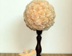 Aranjament masa flori ivory pentru nunti si botezuri