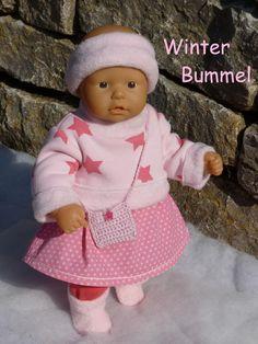 """Puppenkleidung - """"WinterBummel"""" 6tlg Set Gr.35-40cm - ein Designerstück von handgeschick bei DaWanda"""