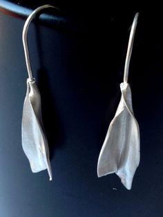 Pendientes de plata hojas Pendientes de Plata por OrigenJoyas