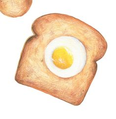 Egg Toast // Original Illustration // Archival by KendyllHillegas