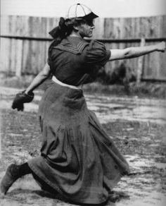 "Alta Weiss Hisrich (1890–1964) Semiprofessional American minor league pitcher from Ohio. She started pitching by age 3 & was on boy's & men's leagues.  Her baseball skills put her through medical school & she was the only female Dr. to graduate in 1914.  She played on/off into the 1920's. ""I found that you can't play ball in skirts, I tried. I wore a skirt over my bloomers – and nearly broke my neck. Finally I was forced to discard it, and now I always wear bloomers."" she told reporters."