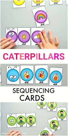 These adorable Caterpillar Sequencing Cards will help your kids to recognize patterns in their everyday life and understand how events occur in a logical order! #printablesforkids #sequencing