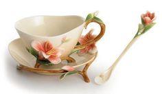 Franz Cup Saucer - Franz Porcelain Flower Cup and Saucer