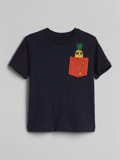 Gap Baby Monster Pocket T-Shirt - Bicoastal Blue 5 Yrs Boys T Shirts, Tee Shirts, Clothing Photography, Summer Boy, Tee Shirt Designs, Zara Kids, Summer Tshirts, Boy Outfits, Kids Fashion