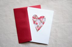 homemade valentine's card with confetti inside