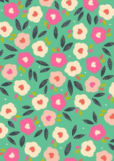 Lovely floral #surface #pattern from The Print Tree !
