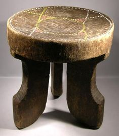 Kamba Beaded Stool — Kenya   Mid-20th Century   A fine Kamba stool from Kenya. Most likely dating to the 1960s. Well carved from a single pi...