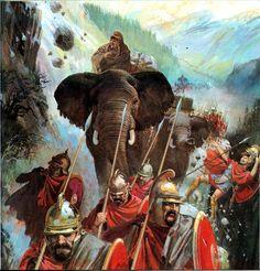 Carthaginian elephants over the Alps