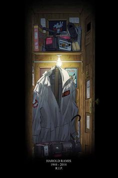 Here's another fantastic piece of tribute art to Ghostbusters co-writer and star Harold Ramis , who passed away earlier this week. It was created by Dan Schoening , and it's one of my favorite tribute illustrations that I've seen. Extreme Ghostbusters, The Real Ghostbusters, Original Ghostbusters, Gi Joe, Paranormal, Harold Ramis, Ghost Busters, Cultura Pop, Good Movies