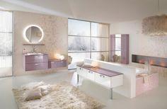 Stunning and Luxury Bathroom Design - Artistic and Stylish Bathroom Wall Decoration Bathroom Design Inspiration, Modern Bathroom Design, Contemporary Bathrooms, Contemporary Rugs, Bathroom Colors, Bathroom Rugs, Bathroom Mirrors, Bathroom Faucets, Pastel Bathroom
