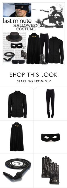 """""""Zorro Costume"""" by larinhacarter ❤ liked on Polyvore featuring Versus, Thom Browne, Oris, Yves Saint Laurent, Chanel, Polo Ralph Lauren, men's fashion and menswear"""