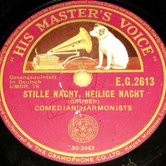 COMEDIAN HARMONISTS  Stille Nacht,heilige Nacht  Berlin 1932 HMV X-MAS 78rpm 10