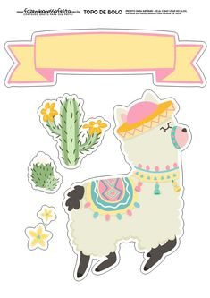 Free Stickers, Printable Stickers, Planner Stickers, Llama Birthday, Llama Alpaca, Mexican Party, Print And Cut, Party Printables, Happy Planner