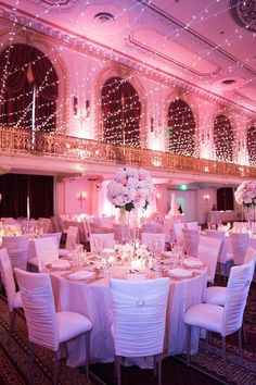 romantic wedding reception lighting; Photo: Elizabeth Craig Photography