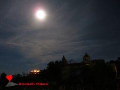 The #moon that shines on #Stromboli.