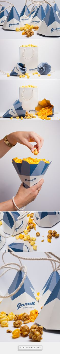 Garrett Popcorn Shops Cones packaging design concept by Jennifer Mulvihill| Popcorn Packaging, Tea Packaging, Food Packaging Design, Paper Packaging, Pretty Packaging, Packaging Design Inspiration, Brand Packaging, Branding Design, Packaging Ideas