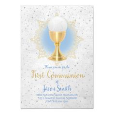 catholic boy first communion design invitation   Zazzle.com