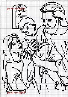 Gallery.ru / Фото #7 - Редкие и красивые схемы (2) - Olgakam Cross Stitching, Cross Stitch Embroidery, Cross Stitch Designs, Cross Stitch Patterns, Crochet Placemats, Stitch And Angel, Filet Crochet Charts, Fillet Crochet, Religious Cross