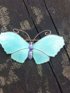 Sterling Silver Enamel Butterfly Brooch JA&S