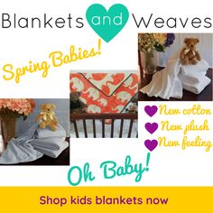 Oh baby! We just can't get enough of our new and improved cotton baby blankets. Shop them online now. Cotton Baby Blankets, Kids Blankets, Cellular Blanket, Spring New, Knit Patterns, Boy Or Girl, Weaving, Feelings, Shop