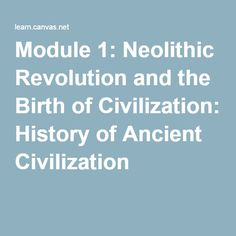 a history of neolithic revolution The neolithic revolution affected the nature of the environmental hazards confronted by the human population, triggering an evolutionary process that had a significant impact on human longevity.