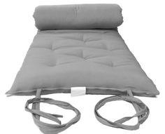 Queen-Size-Gray-Japanese-Floor-Rolling-Futon-Mattress-Thai-Mat-Cotton-Bed