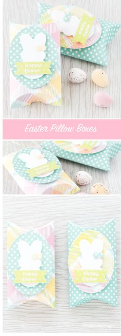 Easter pillow boxes using the Simon Says Stamp March Card Kit. Find out more by clicking the following link: http://limedoodledesign.com/2016/02/easter-pillow-boxes/