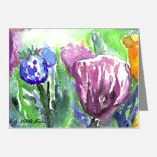 Purple Orange Tulips Note Cards (Pk of 20) for