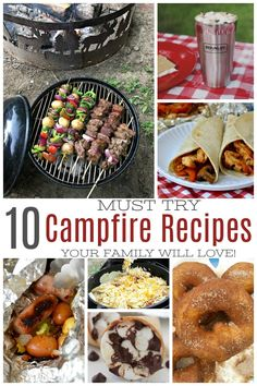 10 Must Try Campfire Recipes Your Family Will Love Looking for family-friendly campfire recipes? Don't miss these 10 must-try campfire recipes your family is sure to love on your next camping trip. Best Camping Meals, Camping Games, Camping Checklist, Family Camping, Tent Camping, Camping Ideas, Camping Equipment, Camping Essentials, Camping Cooking