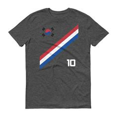 South Korea World Cup Soccer Short-Sleeve Unisex T-Shirt Football Korean  Style Shirt Seoul Flag BTS Tae Kwon Do KPOP K-POP cd2abea2e