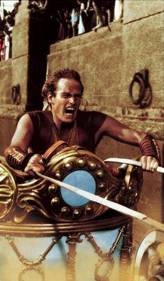 Charlton Heston playing Ben-Hur