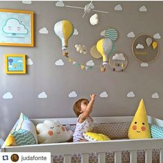 Ideas baby decor pillows for 2019 Baby Boy Rooms, Baby Bedroom, Baby Room Decor, Baby Boy Nurseries, Nursery Room, Girls Bedroom, Nursery Neutral, Kids Furniture, Furniture Plans