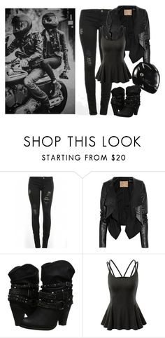 """""""Imagine Sirius taking you for a ride on his motorcycle"""" by purplexlittlexbear ❤ liked on Polyvore featuring Max Azria, Not Rated, Doublju, siriusblack and Marauders"""